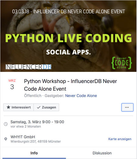 Facebook NCA Event
